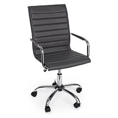 Bizzotto 5710209 Office armchair with wheels - dark gray Perth