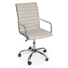 Bizzotto 5710210 Office armchair with wheels - tortora Perth