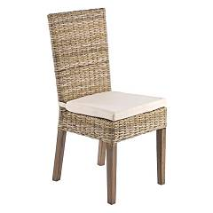 Bizzotto 0671131 Chair in wood with intreccio with cushion Luzia