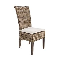 Bizzotto 0671640 Chair in wood and kubu with cushion Dominica