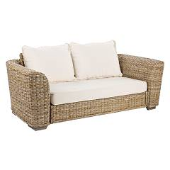 Bizzotto 0671646 Sofa 2 places in wood and kubu with cushions Cancun