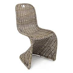 Bizzotto 0671656 Chaise en fer et kubu - naturel Zacarias