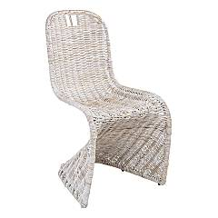 Bizzotto 0671657 Iron and kubu chair - white Zacarias