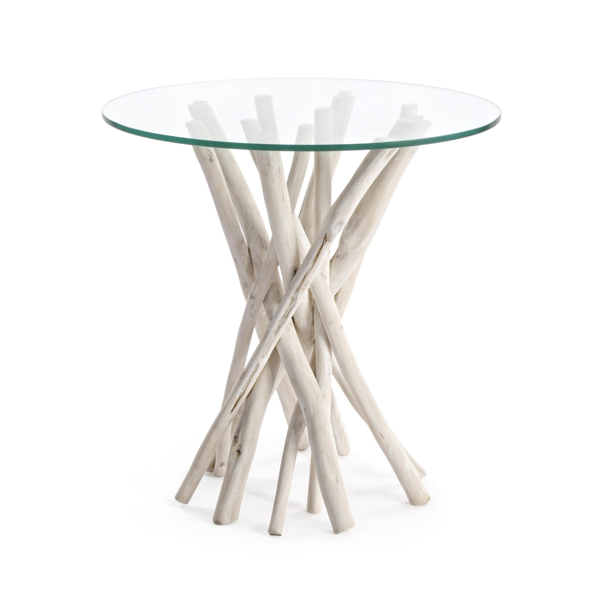 Photos 1: Bizzotto Wood and glass coffee table d. 40 0680403