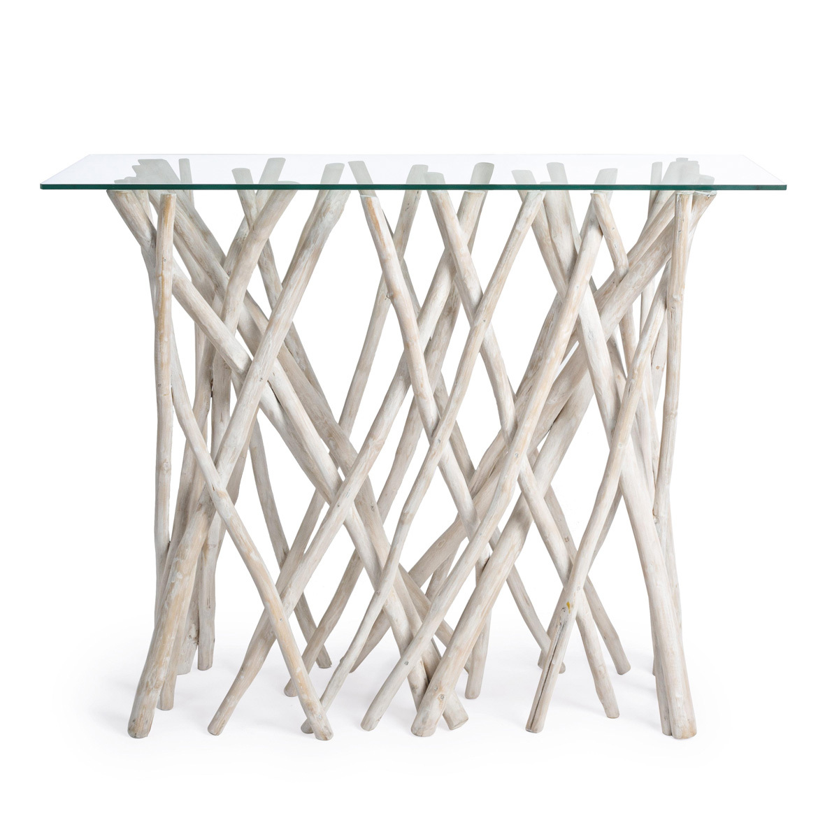 Photos 1: Bizzotto Fixed console in wood and glass l. 100 x 40 0680405