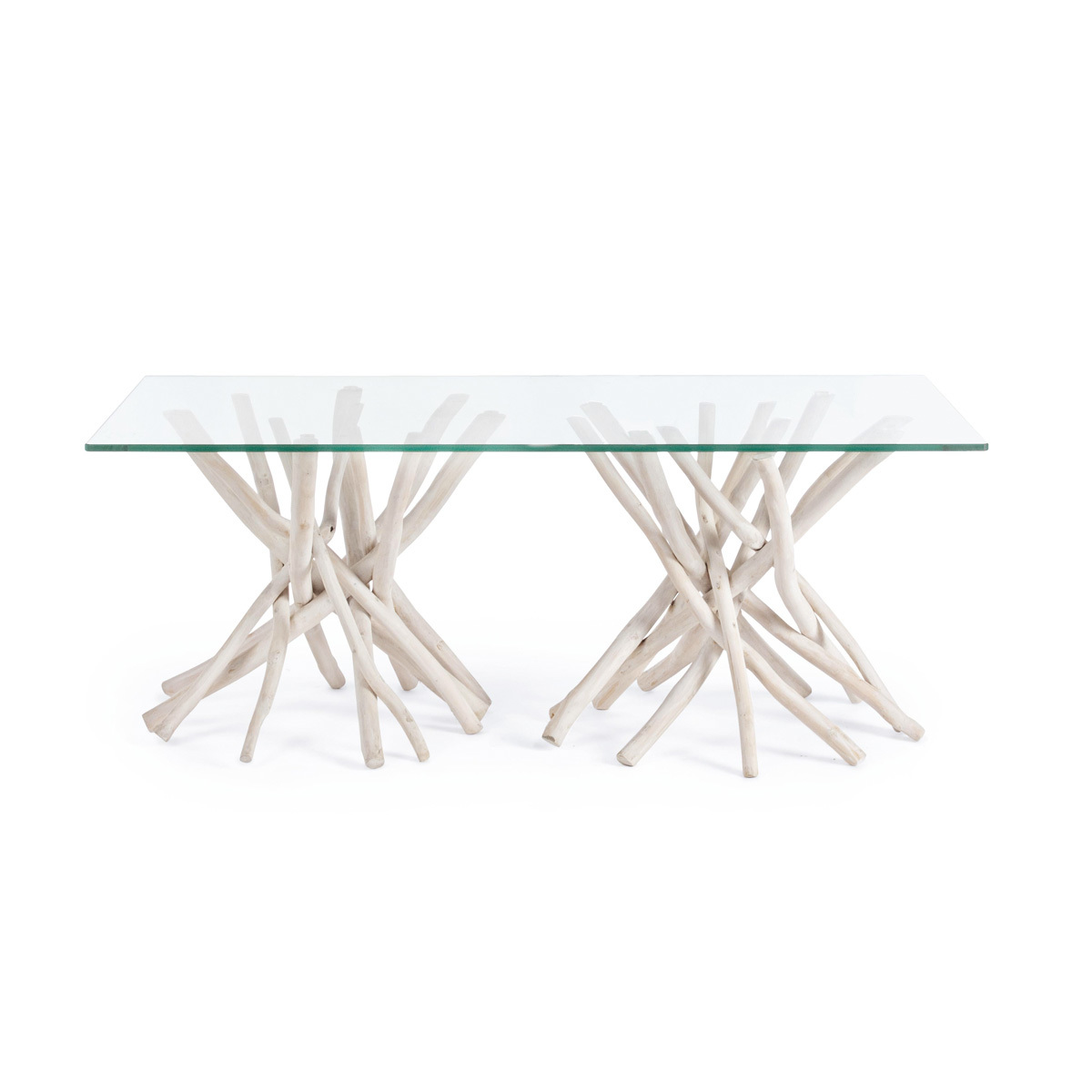 Photos 2: Bizzotto Wood and glass table l. 110 x 60 0680408