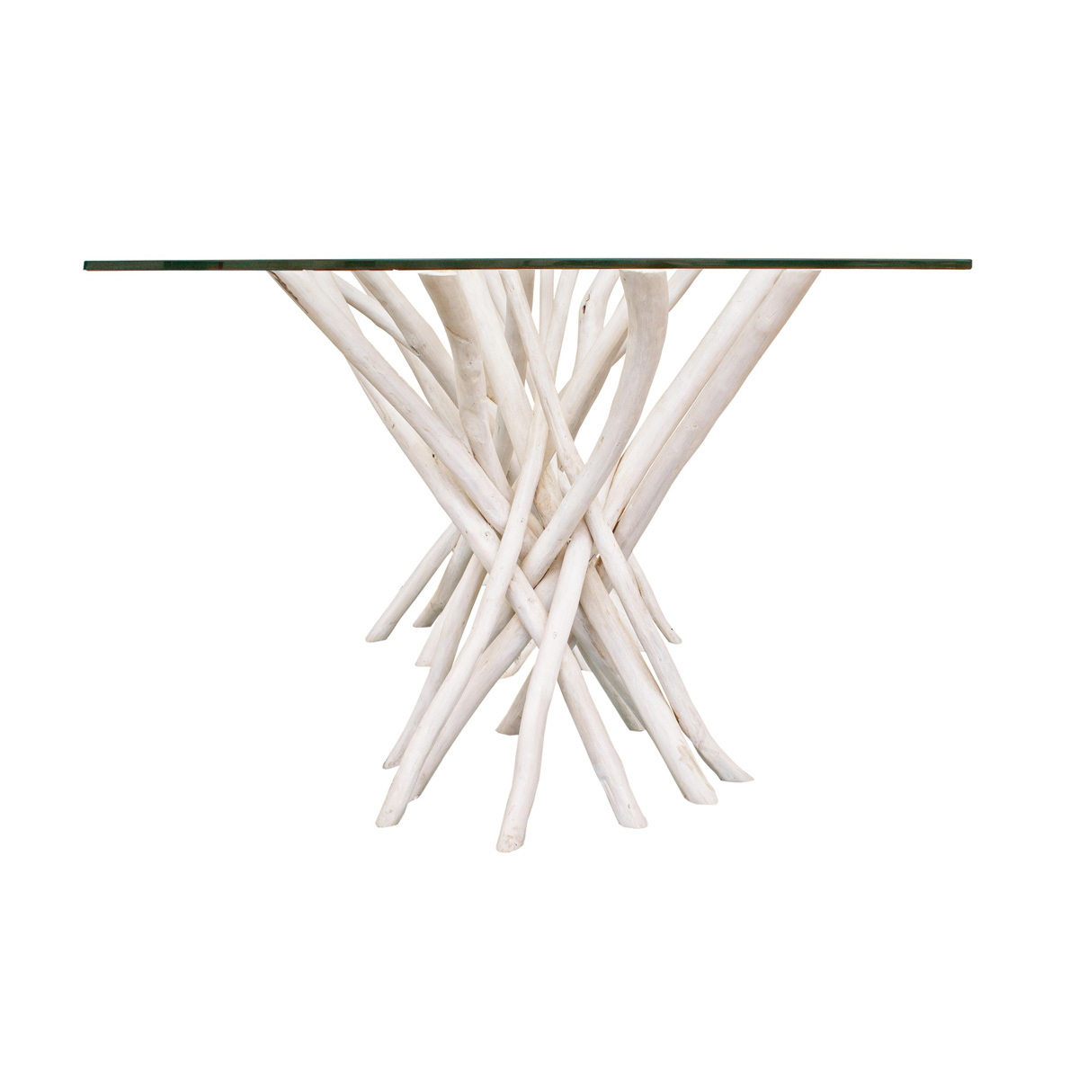 Photos 3: Bizzotto Wood and glass table l. 110 x 60 0680408