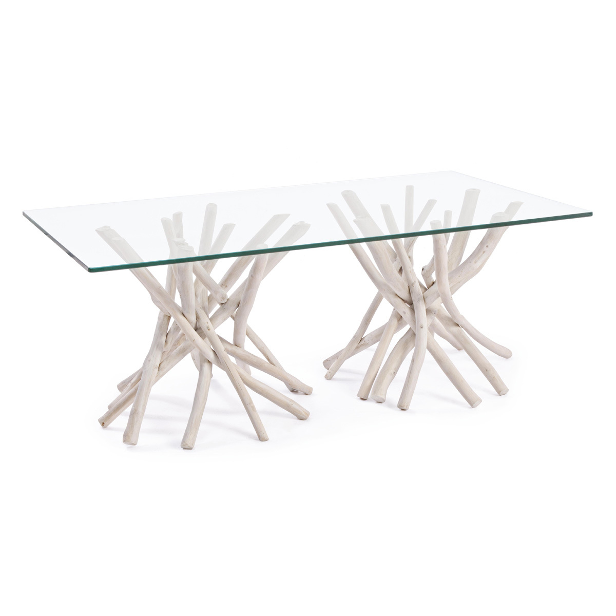 Photos 1: Bizzotto Wood and glass table l. 110 x 60 0680408