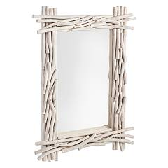 Bizzotto 0680411 Mirror with wooden frame l. 90 x 60 Sahel