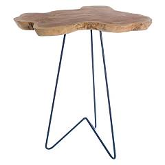 Bizzotto 0680417 Wooden table l. 40 x 40 - blue Savanna