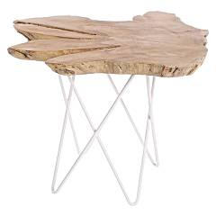 Bizzotto 0680418 Wooden table l. 50 x 50 - white Savanna