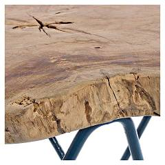 Photos 2: Bizzotto 0680420 Savanna Wooden coffee table l. 50 x 50 - blue