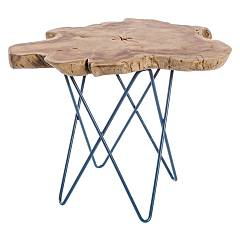 Bizzotto 0680420 Wooden coffee table l. 50 x 50 - blue Savanna