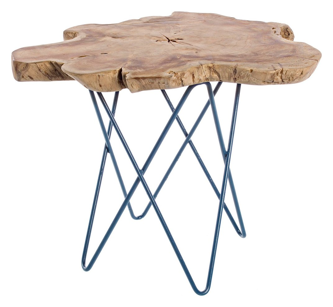 Photos 1: Bizzotto 0680420 Savanna Wooden coffee table l. 50 x 50 - blue