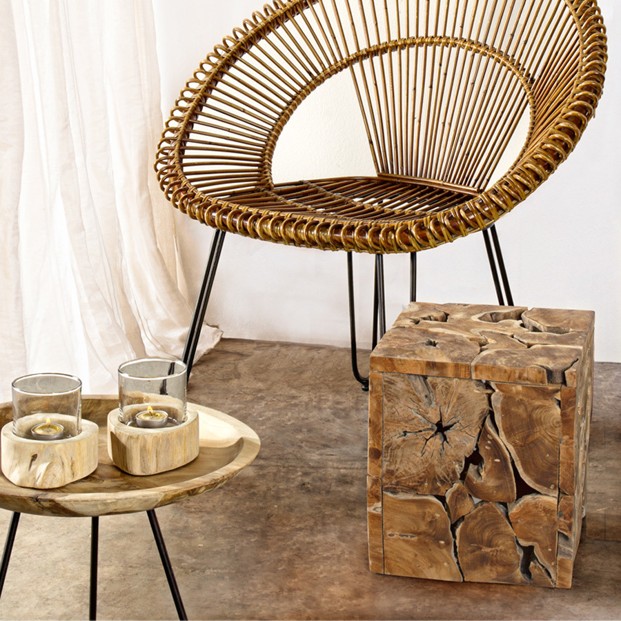 Photos 2: Bizzotto Wood and iron coffee table d. 40 0680424