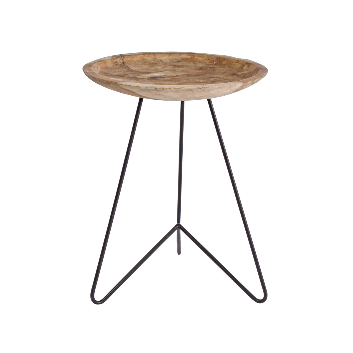 Photos 1: Bizzotto Wood and iron coffee table d. 40 0680424