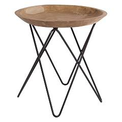 Bizzotto 0680425 Wood and iron coffee table d. 50 Zahira