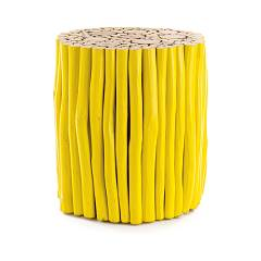 Bizzotto 0680441 Wooden table d. 38 - yellow Guadalupe