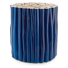 Bizzotto 0680442 - Guadalupe Table basse en bois d. 38 - bleu