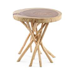 Bizzotto 0680446 Wooden table d. 56 Solidad