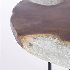 Photos 2: Bizzotto 0680447 Frio Wooden table d. 55
