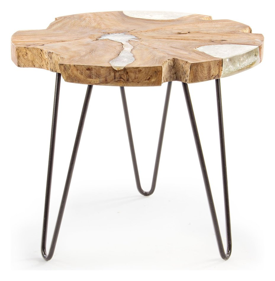 Photos 1: Bizzotto 0680447 Frio Wooden table d. 55