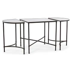 Bizzotto 0740188 Table metal et miroir 3pz Aris