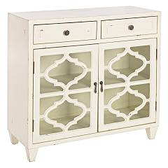 Bizzotto 0744433 - Jasmine Sideboard in wood with 2 doors and 2 drawers - white
