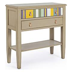 Bizzotto 0744540 Wooden mobile with 2 drawers - tortora Moritz