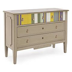 Bizzotto 0744545 - Moritz Chest of drawers wood 3 drawers - taupe