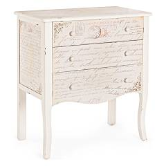 Bizzotto 0744564 - Words Chest of drawers wood 3 drawers