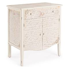 Bizzotto 0744566 - Words Sideboard in wood with 2 doors and 1 drawer
