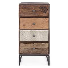 Bizzotto 0745450 - Gaspard Chest of drawers wood 4 drawer