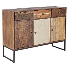 Bizzotto 0745454 3-door wooden sideboard and 3 drawers Gaspard