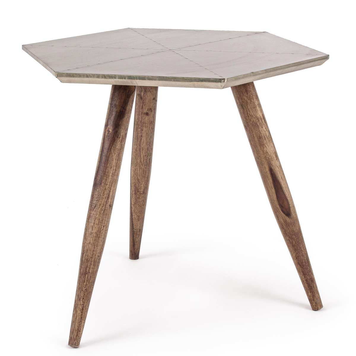 Photos 1: Bizzotto Wooden table with metal floor 0745456