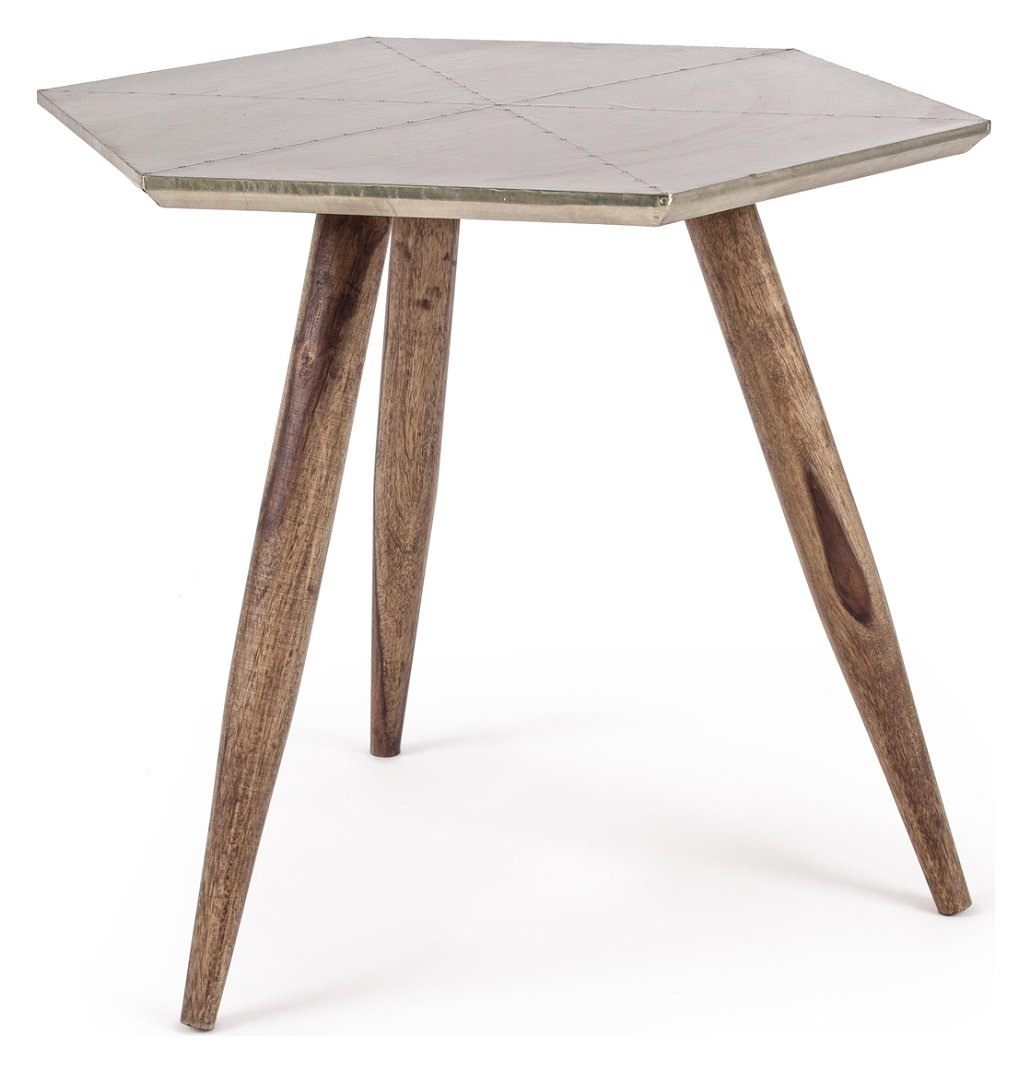 Photos 1: Bizzotto 0745456 Gaspard Wooden table with metal floor