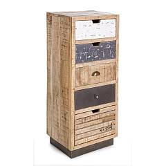 Bizzotto 0745463 - Tudor Chest of drawers in wood 5 drawers