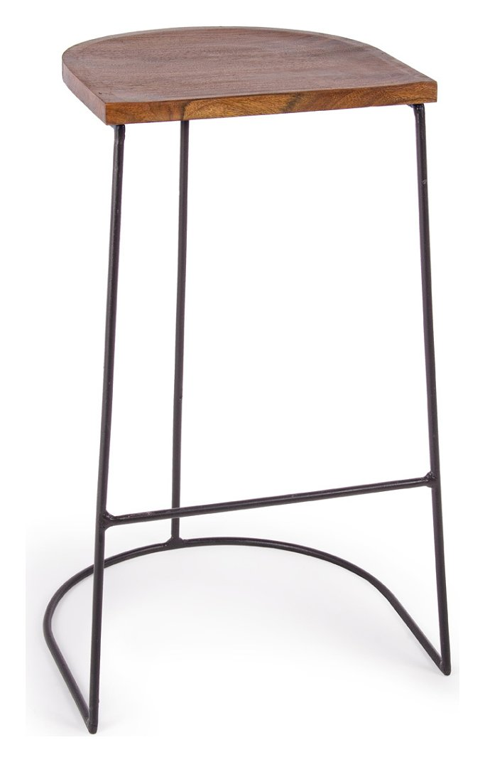 Photos 1: Bizzotto 0745472 Edgar Stool in metal and wood