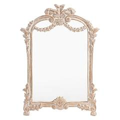 Bizzotto 0745656 Mirror with wooden frame l. 55 x 80 Charlotte