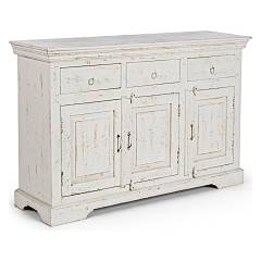 sale Sideboard In Wood With 3 Doors And 3 Drawers - White 0745662 - Ania