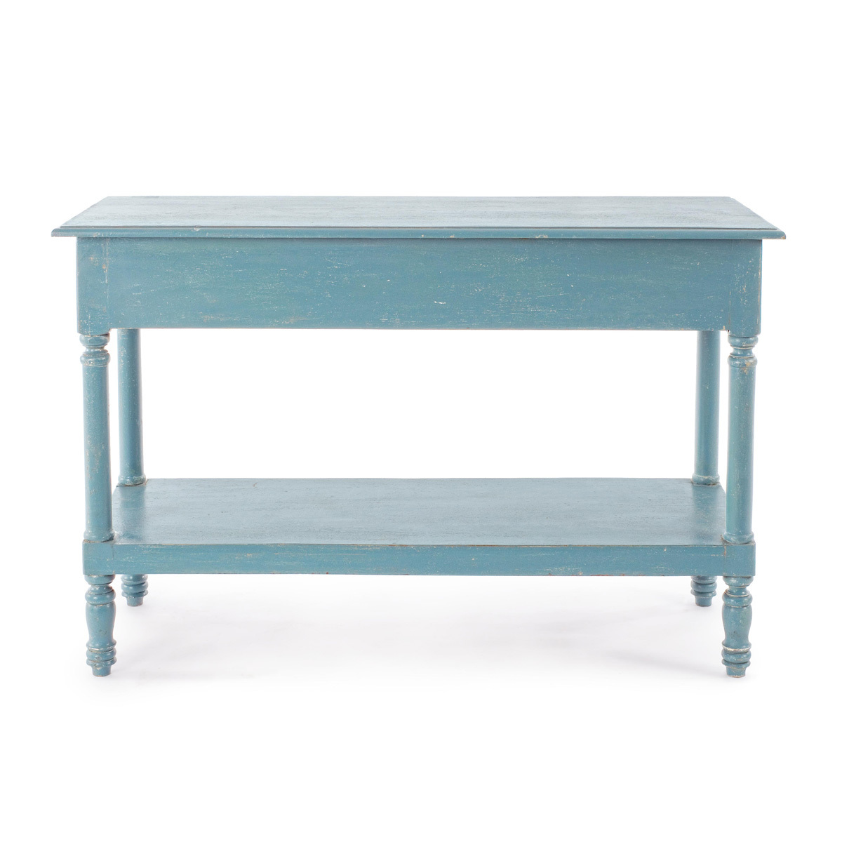 Photos 2: Bizzotto Fixed wood console l.120 x 45 - blue avio with 3 drawers 0745675