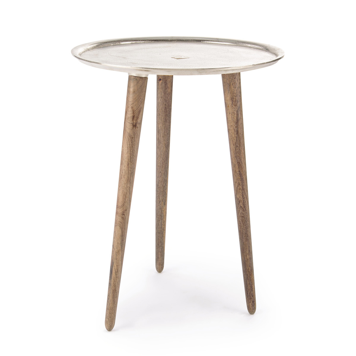 Photos 1: Bizzotto Wood and aluminum table d. 50 0746059