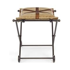 Photos 2: Bizzotto 0746068 Sanpark Cross Stool in metal and fabric
