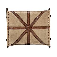 Photos 3: Bizzotto 0746068 Sanpark Cross Stool in metal and fabric