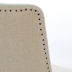 Photos 4: Bizzotto 0748042 Beatriz Chair in wood and fabric - natural