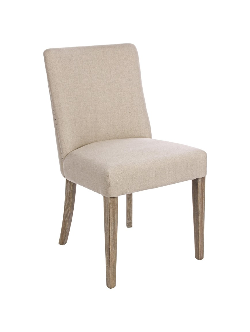Photos 1: Bizzotto 0748042 Beatriz Chair in wood and fabric - natural