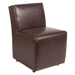 Bizzotto 0748045 - Dakota Upholstered armchair in faux leather - brown