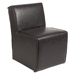 Bizzotto 0748046 Armchair covered in faux leather - black Dakota
