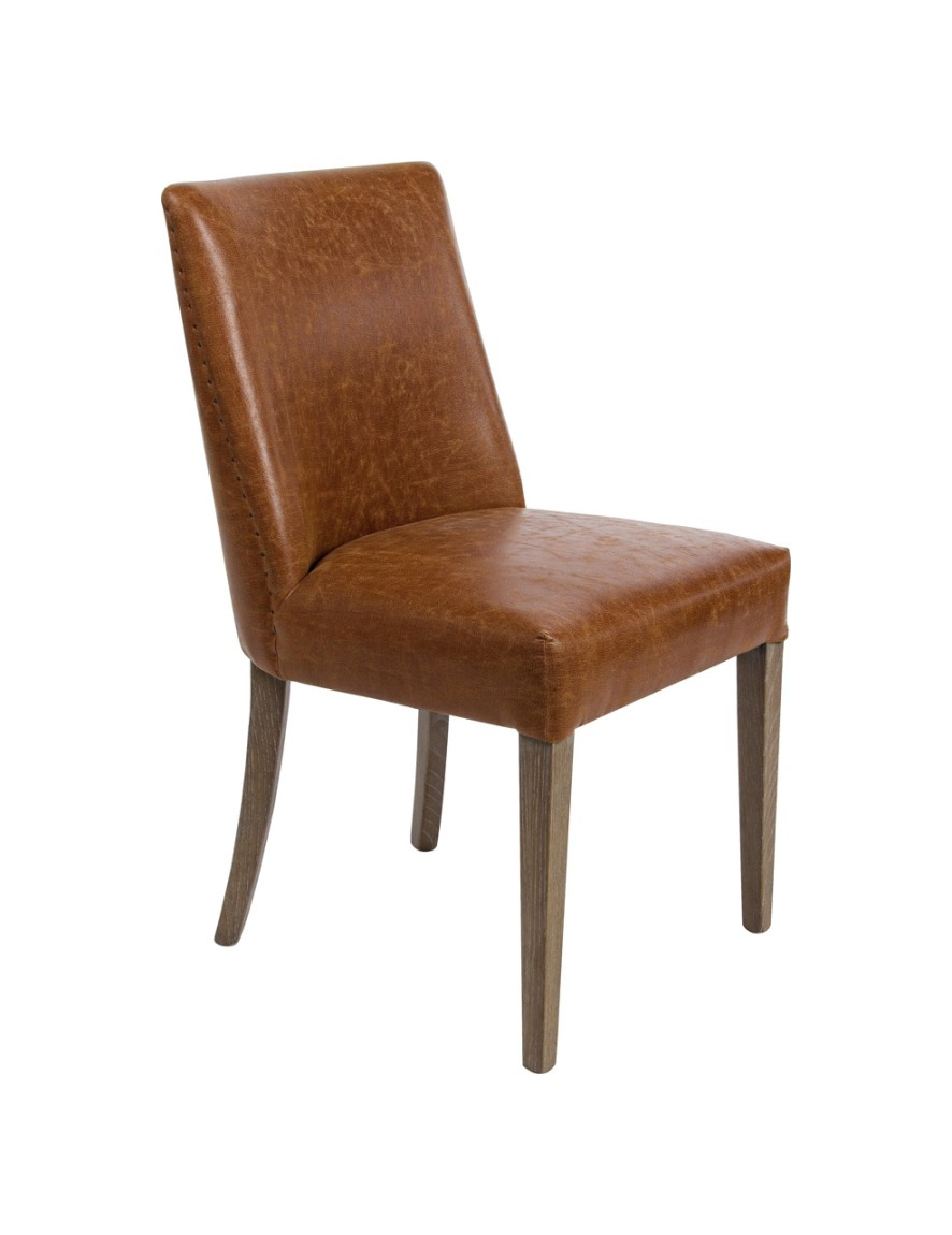 Photos 1: Bizzotto 0748055 Beatriz Chair covered in eco-leather - vintage brown