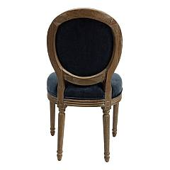 Photos 2: Bizzotto 0748063 Adrien Chair in wood and fabric - blue
